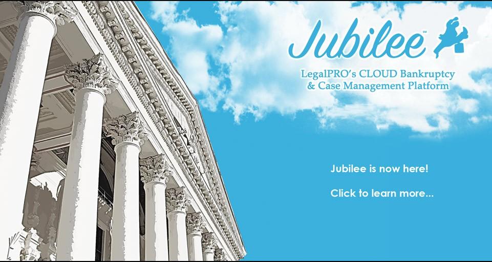 JubileeBK - LegalPRO's cloud bankruptcy platform